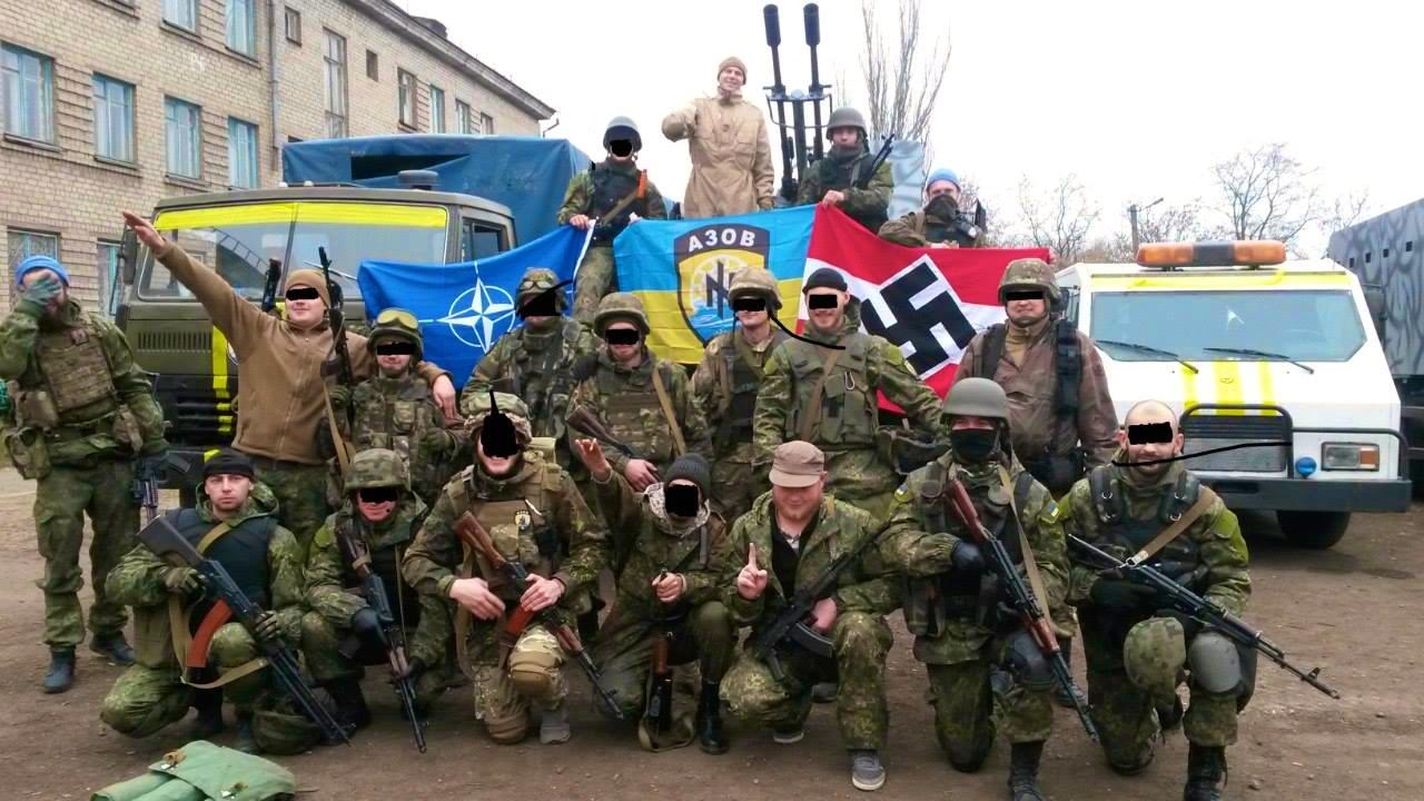 Pomoc Kyjevu v boji proti vlastným občanom na východe krajiny poskytujú fašistické zoskupenia operujúce súčasne s ukrajinskou armádou. (Foto: archív).