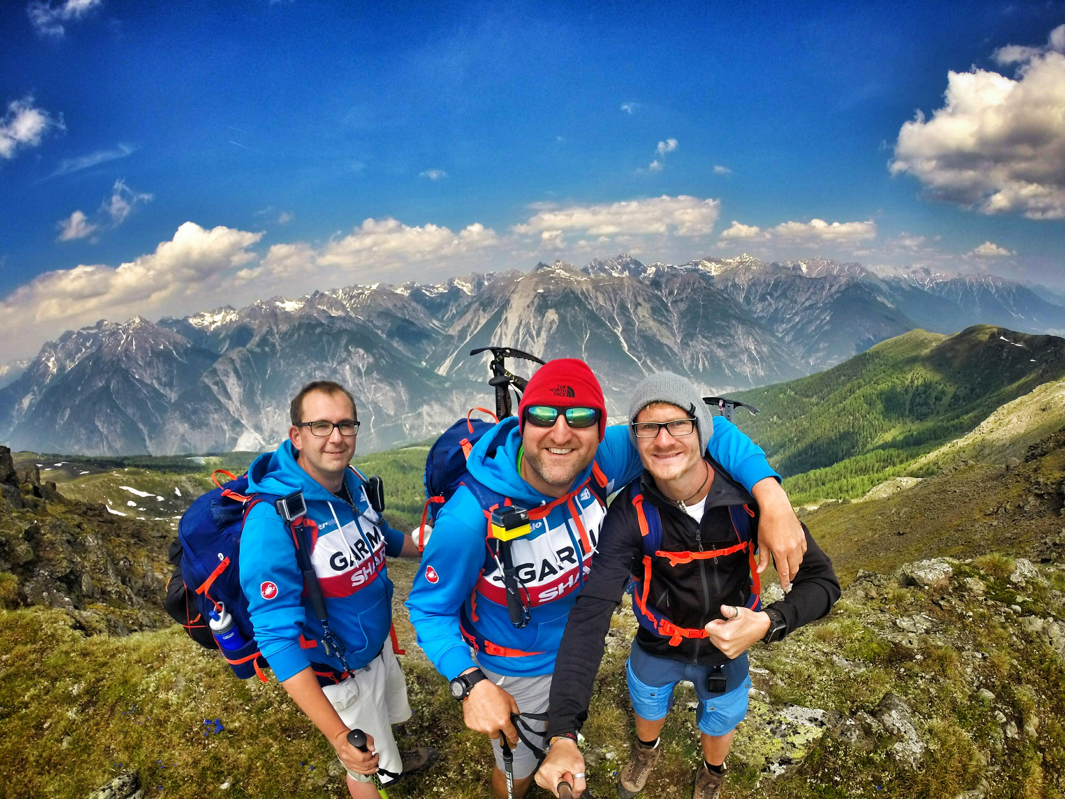 Selfies partie kešerov v Alpách. (Foto: archív).