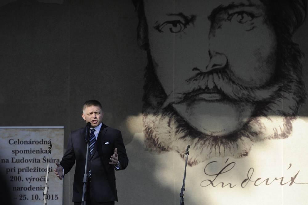 Premiér Robert Fico na oslavách 200. výročia Štúrovho narodenia. (Foto: archív)