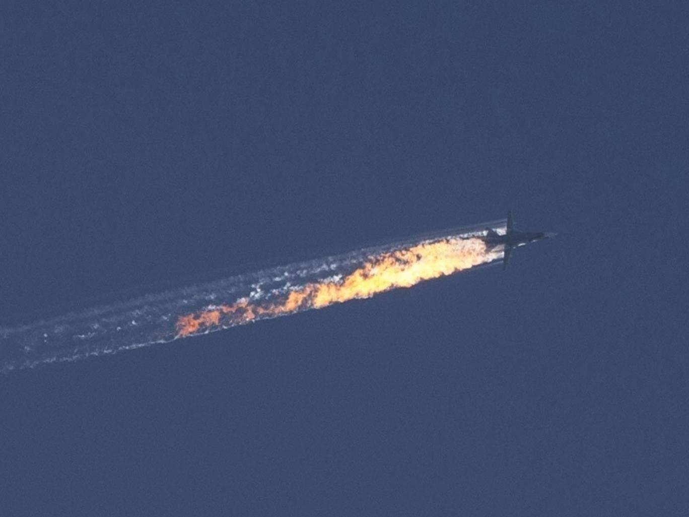 Zostrelená ruská stíhačka SU-24 (Foto: archív)
