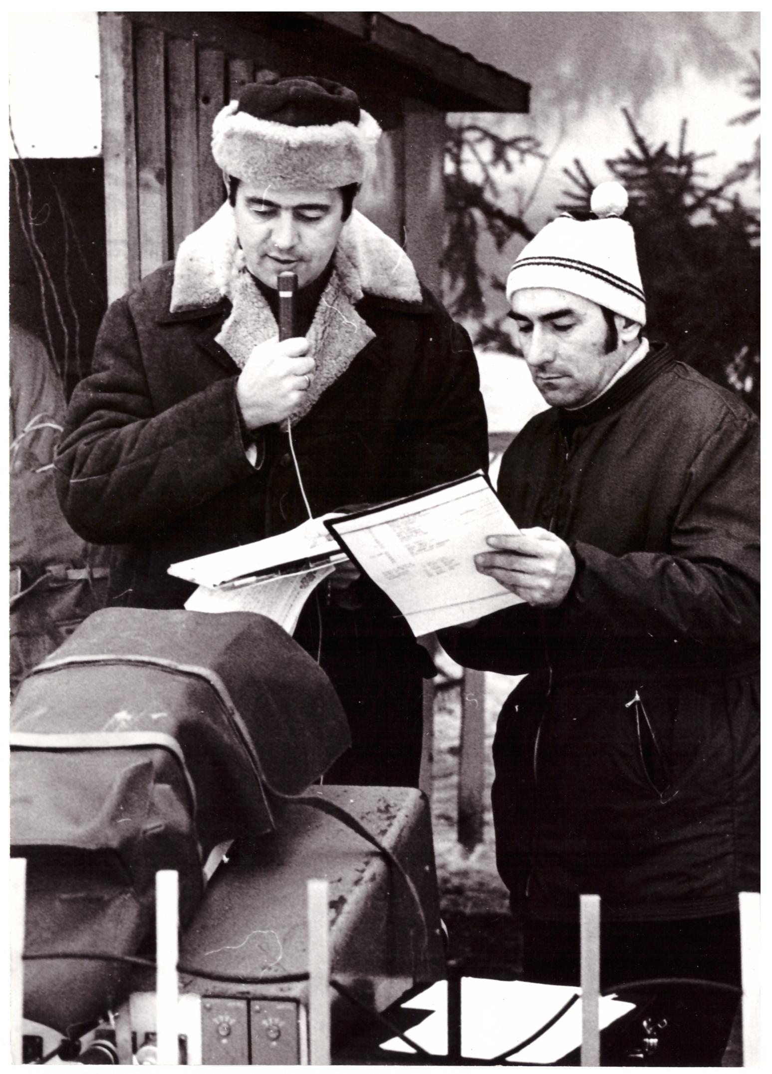 Komentovanie Bezroukovho memoriálu v roku 1969. (Foto: Jaroslav Zelený)