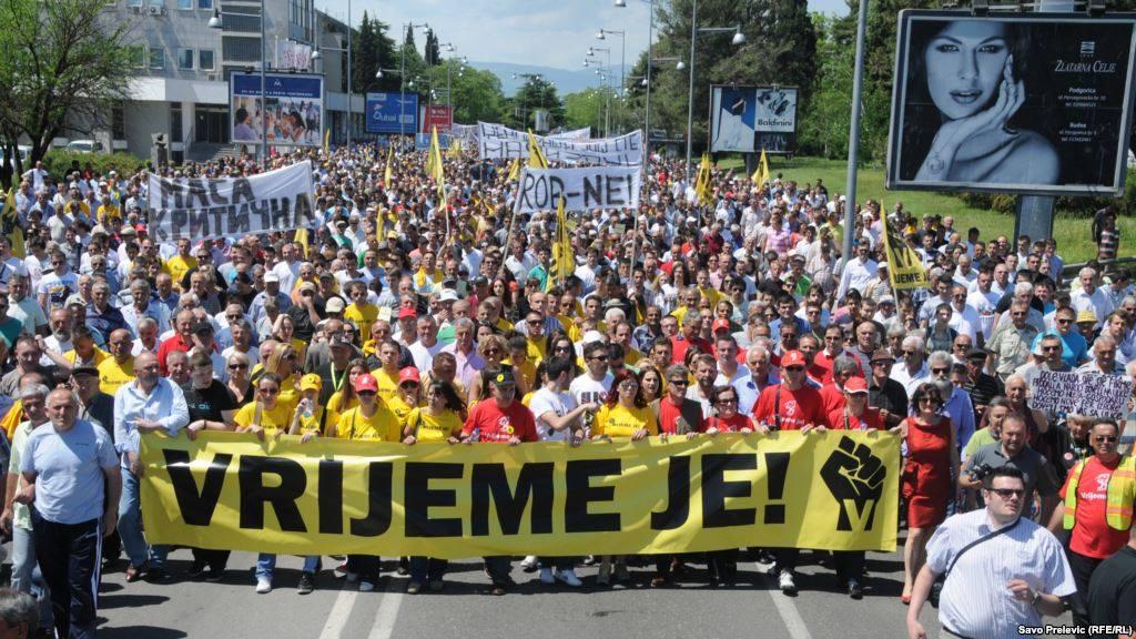Čiernohorské protesty sú masívne. (Foto: archív)