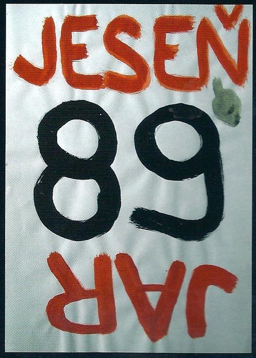 Autentický plagát z obdobia po 17. novembri 1989 - Štátny archív v Banskej Bystrici. (Reprodukcia: archív)