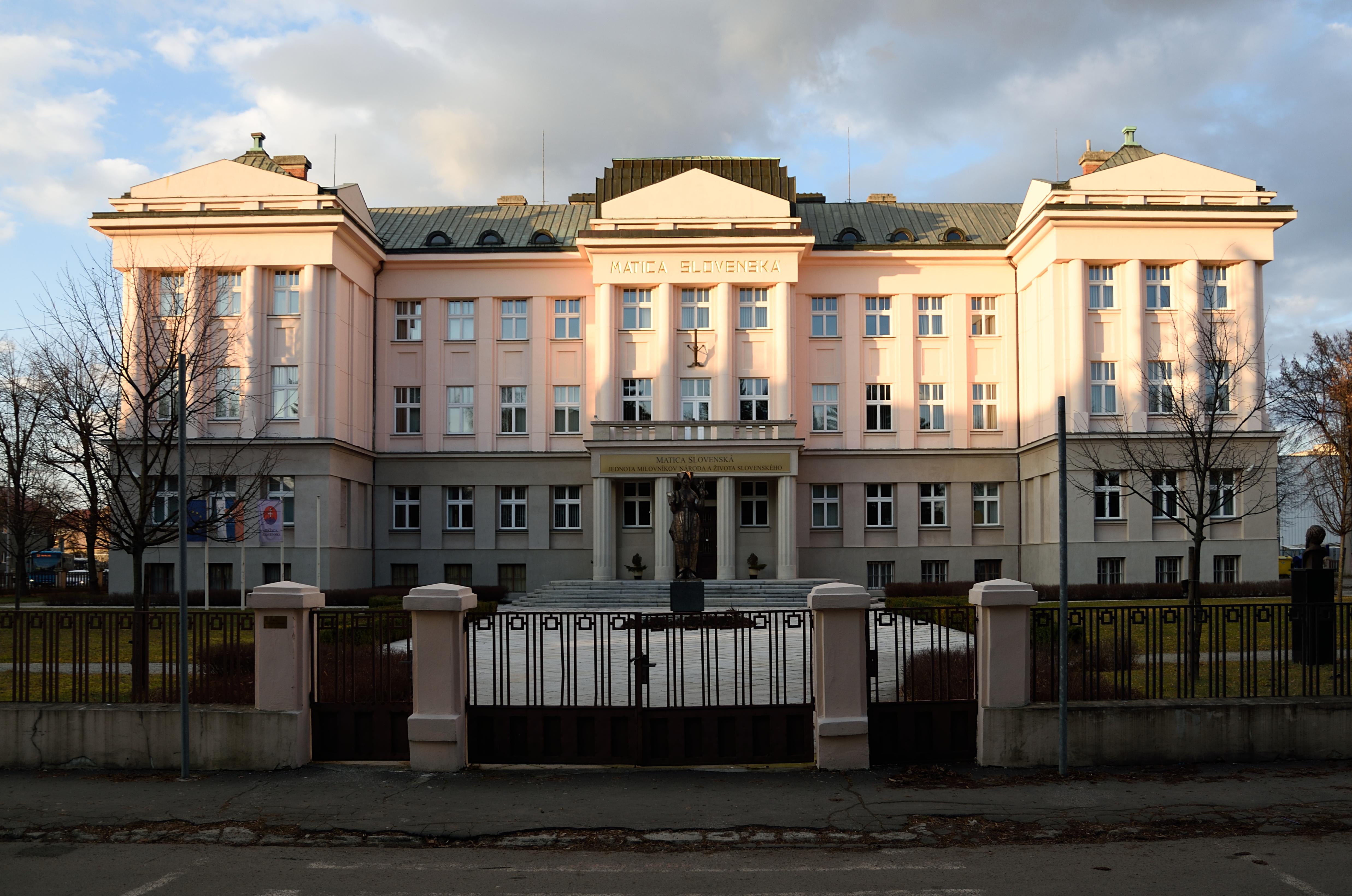 Budova Matice slovenskej v Martine. (Foto: archív)