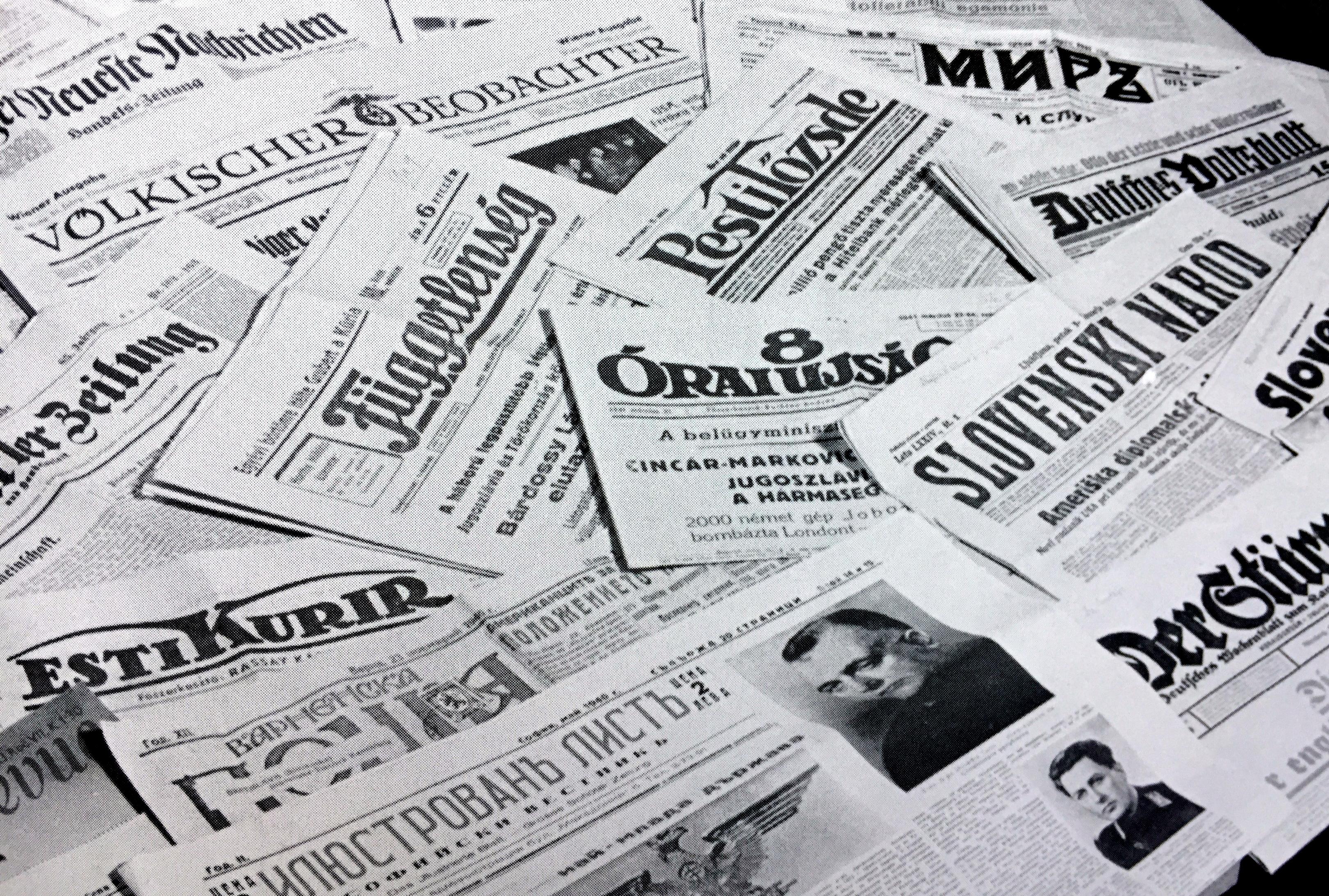 O vzniku prvej SR informovali vtedajšie popredné zahraničné denníky. (Foto: archív)