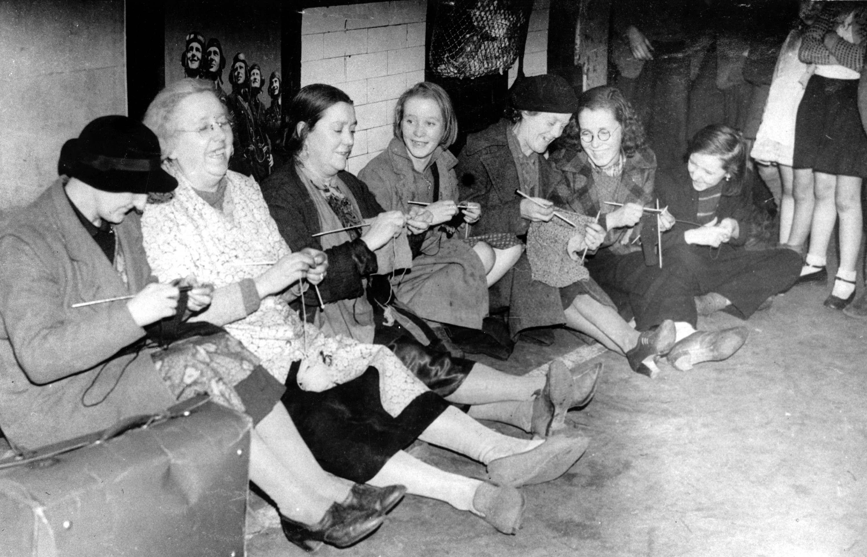 Momentka z metra z čias 2. svetovej vojny. (Foto: archív)