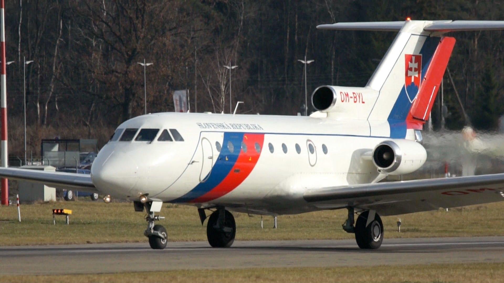 Jak-40 Letky Ministerstva vnútra SR. (Foto: archív)