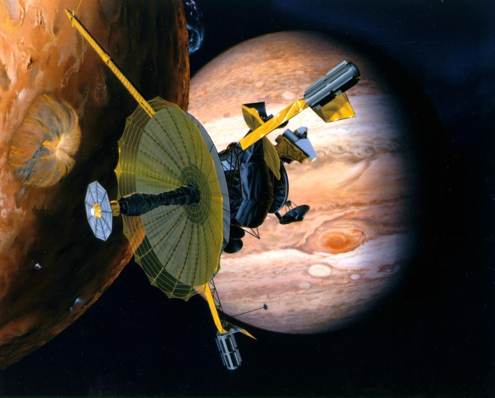 Sonda Galileo. (Vizualizácia: archív)