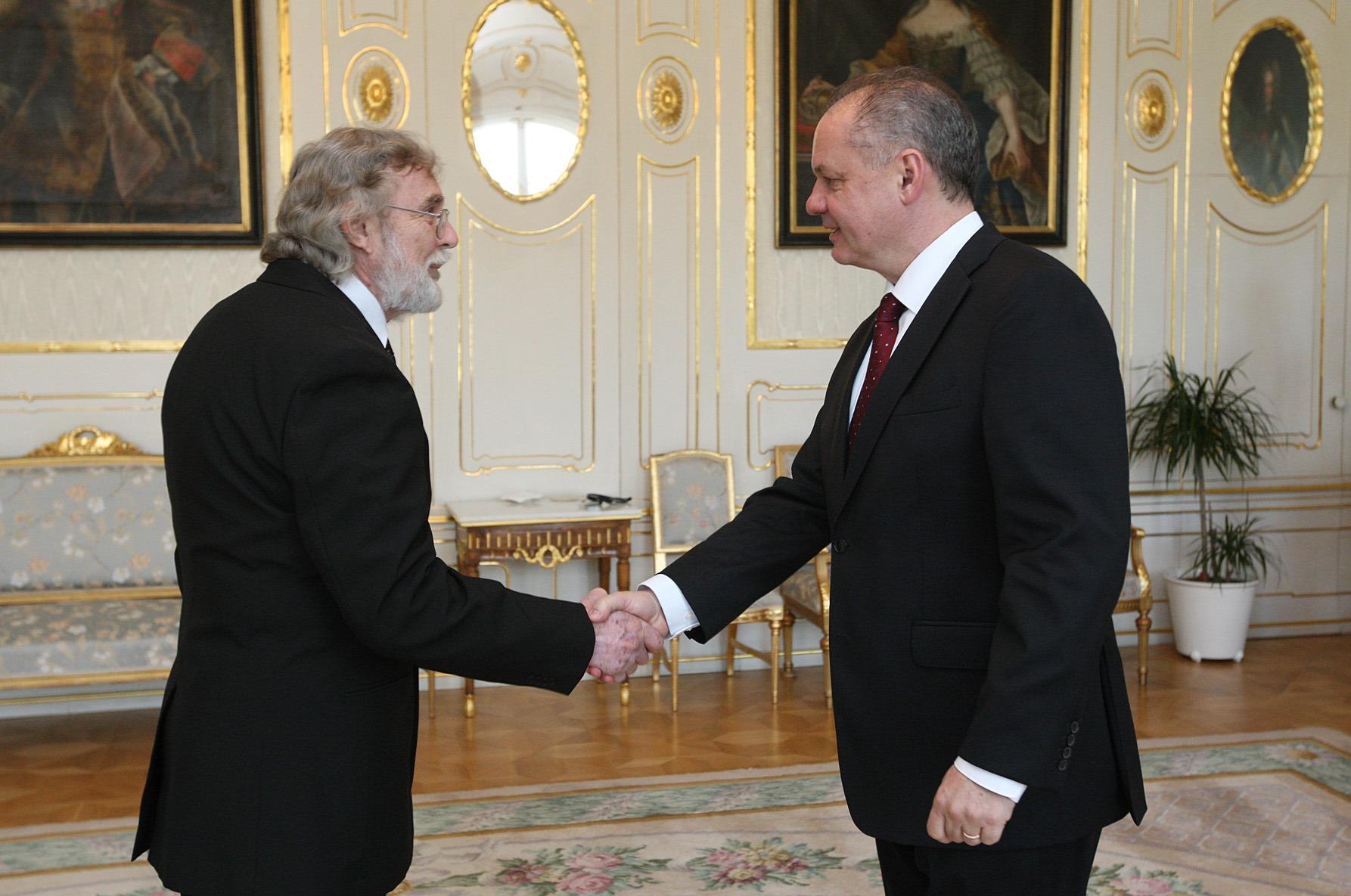 Ján Benčík je v Prezidentskom paláci vítaným hosťom. (Foto: archiv)