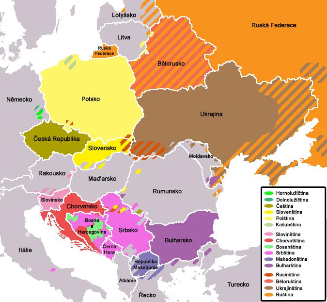 Mapa Slovanov, ktorú vytvoril český programátor, učiteľ, cyklocestovateľ a publicista Martin Adámek. (Reprodukcia: archív)