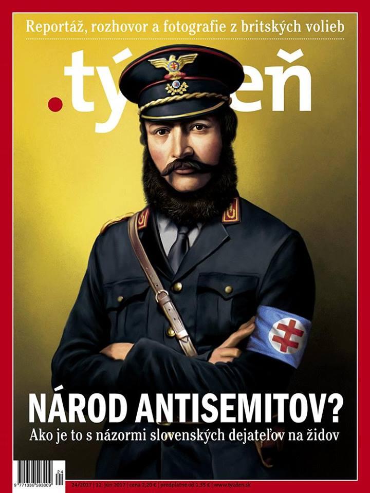 Obálka časopisu Týždeň pobúrila všetkých národne cítiacich Slovákov. (Reprodukcia: archív)