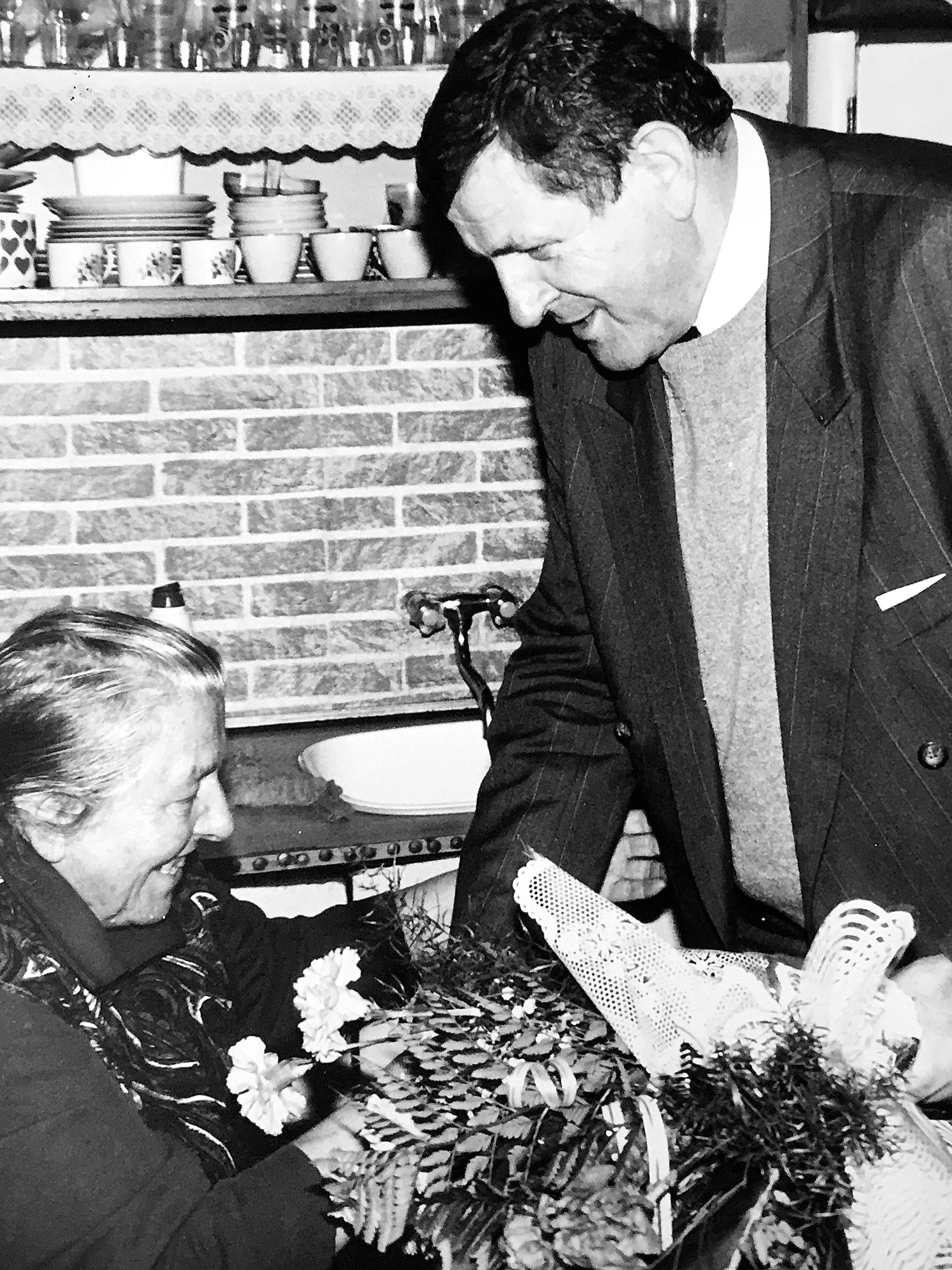 S matkou v roku 1994 v Ladomerskej Vieske. (Foto: Marián Varga)