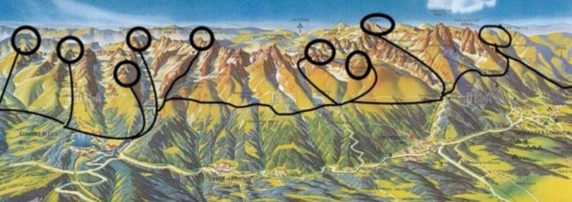 Trasa behu, počas ktorého chce Zvolánek za 30 hodín zdolať deväť tatranských štítov. (Foto: archív)