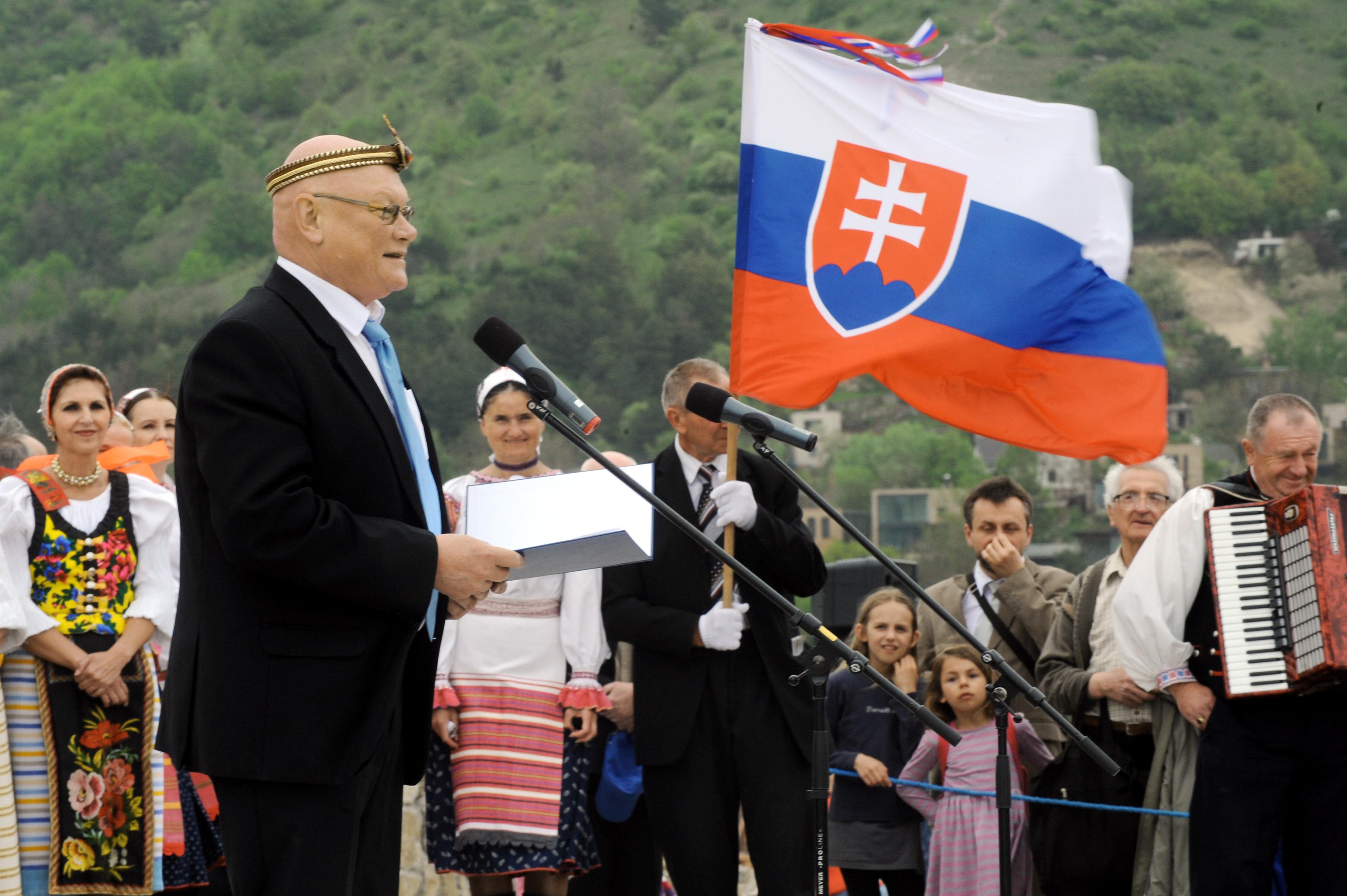 Súčasný predseda Matice slovenskej Marián Tkáč počas slávnosti na hrade Devín. (Foto: archív)