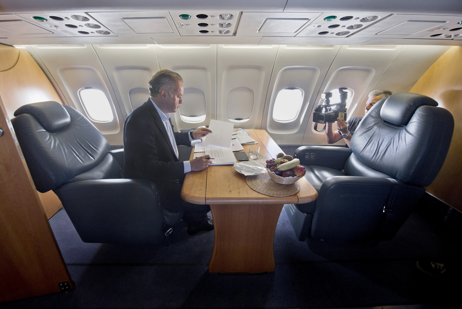 Prezident na ceste do New Yorku. (Foto: archív)
